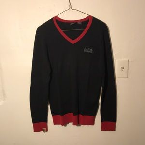 Armani Exchange Black/red long sleeve with logo